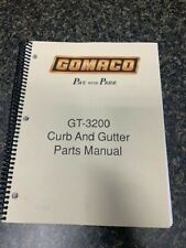 Gomaco Gt 3200 Gt 3200 Curb And Gutter Machine Parts Manual Catalog Book Sku A