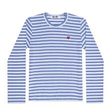 Authentic PLAY Comme Des Garcons Striped Long Sleeve Shirt Small NWOT