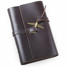 Ancicraft Leather Journal Diary with Retro Airplane A6 Blank Paper Portable Gift