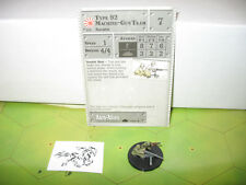 Axis & Allies 1939-1945 Type 92 Machine-Gun Team with card 58/60