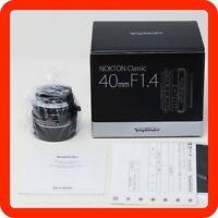 [NEW] Voigtlander Nokton Classic 40mm f/1.4 MC Multi MF Lens VM Leica M mount