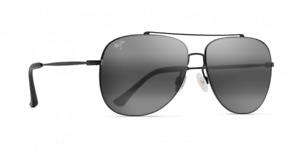 Maui Cinder Cone POLARIZED Sunglasses - Black Matte Neutral Grey 789-2M