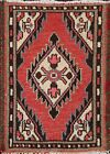 Vintage Geometric Traditional Oriental Area Rug Hand-knotted Wool 1x2 ft Carpet