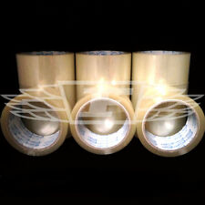 36 ROLLS CLEAR PARCEL PACKING TAPE 66 meters x 48mm PACKAGING SELLOTAPE SEALING