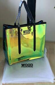 DSQUARED2 Iridescent Designer Tote Bag / Shopper / Beach