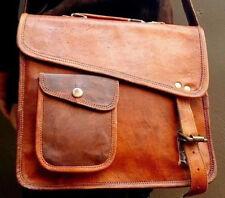 Supreme quality genuine leather I pad Tablet  satchel shoulder passport man bag