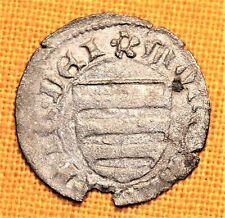 Medieval Silver Coin - Mathias Hunyadi Denar, Arpad Shield, 15. Century