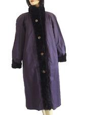 EXCELLENT REVERSIBLE CLOTH TO MINK FUR COAT JACKET WOMEN WOMAN SIZE 8-10 MEDIUM