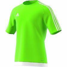 adidas Mens 3 Stripe Estro T Shirt Short Sleeved Tee green size Large *27