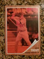 2011 topps heritage minors red tint mike trout  great condition possibly a 9+?