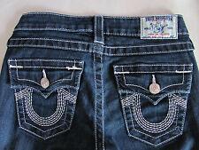 True Religion Boot Cut Jeans Flap Pockets Dark Wash-5 Lines on U- Size 25- NWT