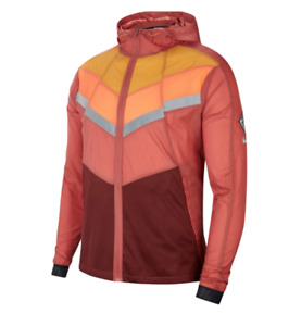 Nike Wild Run Jacket Mens Authentic New Windrunner Lightweight Reflective Red