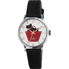 Radley Ladies Border Black and Umber Leather Strap Watch RY2345