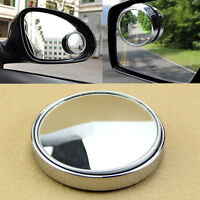 Car Wide Angle Round Convex Blind Spot Mirror For Parking Rear View Sil PM