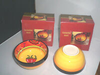 2 CARMELITA  BOWLS New in Boxes