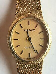 Vintage TISSOT  Quartz Ladies 9ct Bracelet Watch Cal 2033