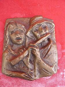 Belle Bronze __ Musiquant Paire __Bronzebild __