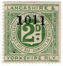 (I.B) Lancashire & Yorkshire Railway : Letter Stamp 2d (control)