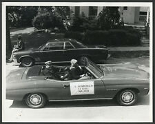 Walden NY: 1972 Parade Photograph Fire Department Ex-Chief E. HENNINGER in Car