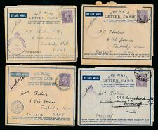 EGYPT WW2 AIRMAIL LETTER CARDS RAF CENSORS etc...4 ITEMS...OAS MAIL..Charles