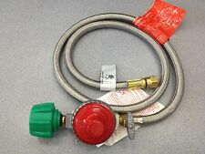 "High pressure regulator & hose 10 psi 48"" stainless hose Bayou Classics M5Hpr-1"