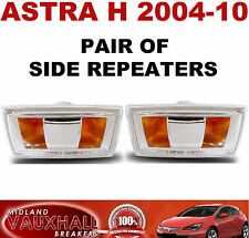 VAUXHALL ASTRA H PAIR SIDE REPEATERS WING INDICATORS BOTH SIDES SXI SRI VXR CDTI