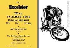 Excelsior Talisman Twin Standard & Sport 1958 - The Excelsior 250cc Talisman Twi