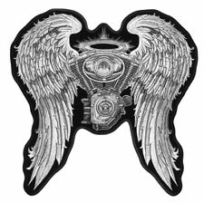 ENGINE WINGS ANGEL MOTORCYCLE PATCH P5190 v twin novelty iron on heat sewon new