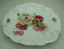 Antique Hand Painted Decorative Dish Rose Design Made In Germany
