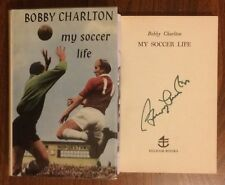 Hand Signed Book BOBBY CHARLTON My Soccer Life - World Cup 1966 England + my COA