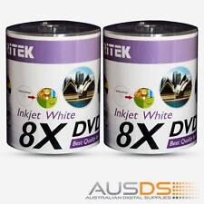 200 X Ritek DVD blank disc media - Printable DVD-R discs matt - 8X burn