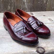 Bostonian Men's 9W Kiltie Tassel Loafer Burgundy Leather Slip-On Dress Shoes