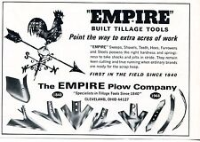 1968 Print Ad of Empire Plow Co Tractor Tillage Tools Cleveland OH