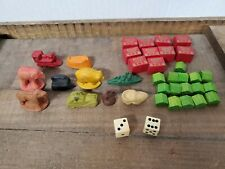 MONOPOLY WWII GAME PIECES/ Hotels/ Houses/Dice. Extremely RARE.