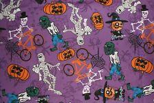 NEW ~ Halloween Print Scrub Top ~ 5X ~ Purple Goblins