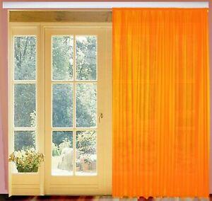 Fertiggardinen Store Orange mit Kräuselband B 450 cm x H 245 cm