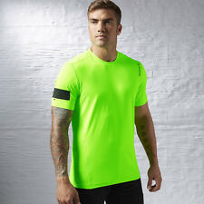 Reebok ActivChill Cooling Size Large Men's Fluorescent Lime Running Tee T-Shirt