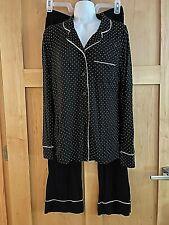 A Pea in the Pod Maternity Pajama Set XS Black Polka Dot Modal Knit MATERNITY