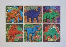 12 Dino Dinosaur Foil Stickers Kid Reward Party Goody Bag Filler Favor Supply