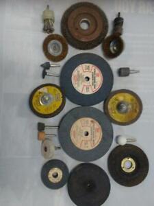 Grinding wheels..wirebrush wheels assortment..new / used