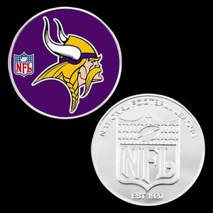 Nfl Metal Coin Collectible Silver Plated Coin American Challenge Coin Man Gifts