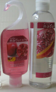 '09 '10 AVON NATURALS RARE POMEGRANATE & MANGO MOISTURIZER & SHOWER GEL SET