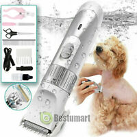Pet Dog Cat Electric Trimmer Low Noise Hair Clipper Shaver Scissor Grooming Kit