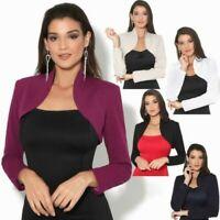 Melrose Damen Shirt in Bolero Optik Farbe braun mit Rosen Größe 40 NEU