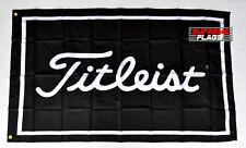 Titleist Flag Banner 3x5 ft Golf Equipment Apparel Wall Garage Black