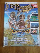 REVUE MAGAZINE ** ROLE PLAYING GAME n°27 ** JEUX VIDEOS RPG DRAGON QUEST