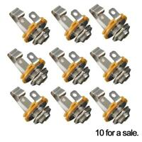 "10pcs 1/4"" 6.35mm  Mono Input Jack Socket Electric Guitar Bass Audio"