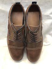 Guess Dancel Oxford Brown Cap Toe Lace Up leather Men's Size 13 Dress Shoes
