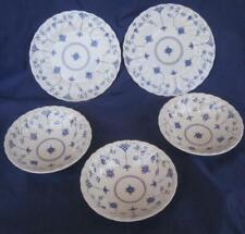 Finlandia Myott Staffordshire 3 Cereal Bowls 2 Salad Plates  Blue Flowers