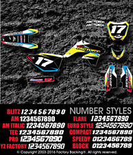 Cobra 10-17  cx 50 sr King Thundering dirt bike Graphics kit with your number